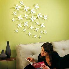 Umbra - Wall flowers blanc