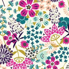 The Way of Flowers :: Koi by Rashida Coleman-Hale for Cloud9 Fabrics
