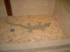 """""""Lizard"""" Tile Mosaic Shower Floor"""