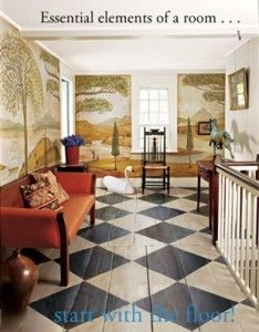 earlyamericanfloorcloths.com Painted floors and beautiful murals