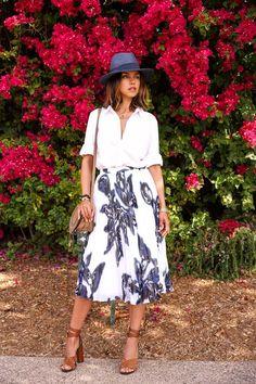 @bananarepublic floral print skirt & blouse #thenewBR