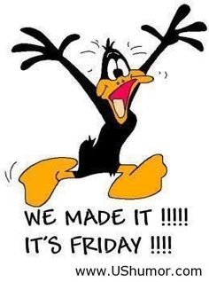 its Friday funny quotes friday funny quotes looney tunes tgif daffy duck days of the week Humor Tgif, Friday Quotes Humor, Funny Quotes, Friday Funnies, Funny Friday, Friday Sayings, Funny Weekend Quotes, Hump Day Humor, Quotes Pics