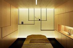 Sensai Spa by Curiosity | sleek, minimal zen massage room