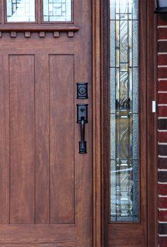 36 Ideas For House Entrance Design Craftsman Style - wooden door design Front Door Entryway, Wood Front Doors, Exterior Front Doors, House Front Door, House Front Design, House Doors, Entrance Doors, Front Entry, Barn Doors