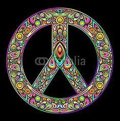 Peace Symbol Psychedelic Art Design-vector© bluedarkat