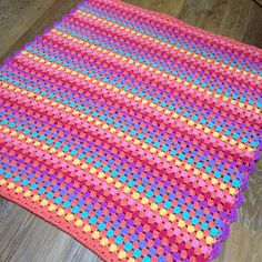 Crochet girl brights blanket