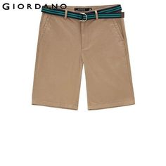 Men Shorts Clothing Cotton Shorts Casual Shorts (With Belt)