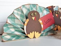 *Here is a link to the tutorial for these place cards.* I finally finished all 19 of the place cards for Thanksgiving, and I'm sharing them with you today. I had a picture in my mind of how I wanted them to turn out, and they turned out just how I pictured them! These were …