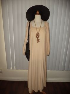 SOLD Vtg Boho Nude Reinessance Gypsy Lace Trim 70's Summer Soltice Dress Sz M-L by casadelagitana on Etsy