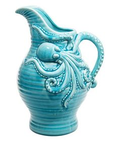 Another great find on #zulily! Aqua Octopus Ceramic Pitcher #zulilyfinds