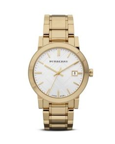 gold burberry watch... kinda love burberry watches now.