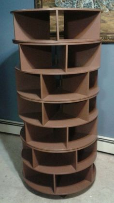 Handmade Shoe Rack - Seven (7) Tier - Brown - Swivel Rack Apx. 42 Shoes