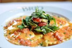 Ravioli with shrimp and lobster sauce. Cooked Italian ravioli with shrimp and tasty lobster sauce. Lobster Recipes, Seafood Recipes, Pasta Recipes, Cooking Recipes, Seafood Platter, Seafood Dishes, Pasta Dishes, Seafood Menu, Crab Ravioli