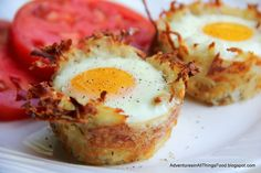 Hash browns egg nests