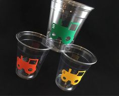 24 Tractor Party Cups Farm Machinery Outdoors by SteshaParty