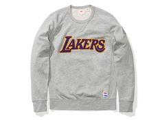 LEVIS X NBA LAKERS CREWNECK SWEATSHIRT - HEATHER GREY/GOLD | Undefeated