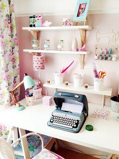 ikea desk British Vintage Craft Room