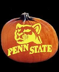 Spookmaster Penn State Nittany Lions College Football Team Pumpkin