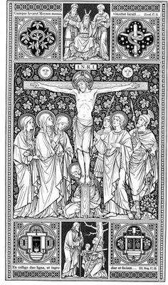 Crucifixion of our Lord and Savior Jesus Christ Christian art detailed Catholic Kids, Roman Catholic, Religious Images, Religious Art, Christian Artwork, Bible Illustrations, Sacred Art, Line Art, Art History