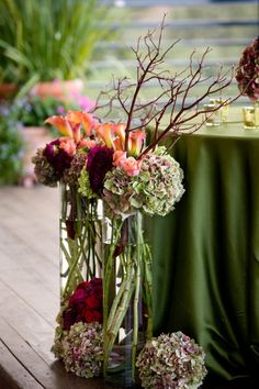 gorgeous autumnal decoration by Precious and Blooming - Thomas Fogarty Winery Wedding from Catherine Hall Studios
