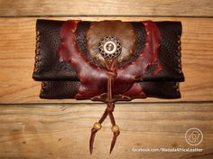 Handmade Upcycled Deerskin Genuine Leather Rolling Tobacco Pouch by WadadaAfrica on Etsy Leather Tobacco Pouch, Leather Cord, Soft Leather, Deerskin, Cotton Thread, Wooden Beads, Pouches, Biodegradable Products, Hand Stitching