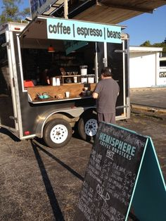 small mobile cafe.awesome!
