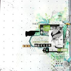 #papercraft #scrapbook #layout.  Mattia by nine scrap