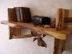 Wood art Bookshelf