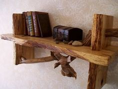 Wood art Bookshelf