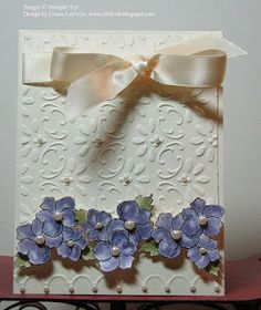 Case Card by Eileen LeFevre - Cards and Paper Crafts at Splitcoaststampers Wedding Anniversary Cards, Wedding Cards, Embossed Cards, Pretty Cards, Card Tags, Creative Cards, Flower Cards, Greeting Cards Handmade, Scrapbook Cards