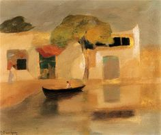 Ольга Левченко - Mihalis Economou - Οικονόμου Μιχάλης (Greek, 1888-1933) Name Paintings, Greek Paintings, Art Paintings For Sale, Original Paintings For Sale, Acrylic Wall Art, Canvas Wall Art, Canvas Art For Sale, Greek Art, Color Of Life