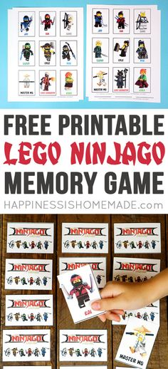 These printable LEGO NINJAGO games are fun for the whole family! Kids love to play these Printable LEGO NINJAGO memory and shadow matching games - great for LEGO birthday parties, classroom, playgroup and more! Ninjago Games, Lego Party Games, Ninjago Party, Lego Ninjago Movie, Lego Parties, Ninja Birthday Parties, Birthday Party Games, Classroom Birthday, Lego For Kids