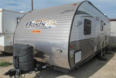 We have a pre-owned 2015 Shasta Oasis in excellent condition!