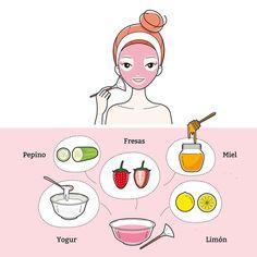 Mascarilla miel y fresas