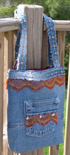 New Again Jeans Tote Pattern - Click Image to Close