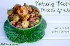 Buttery Bacon Brussels Sprouts