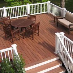 deck color and the white railings