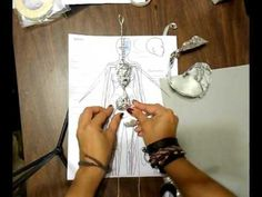 Making Armature for Art Doll Spanish - English Sub - Angels by Noemi