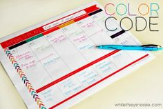 While They Snooze: Free Weekly Planner Printable