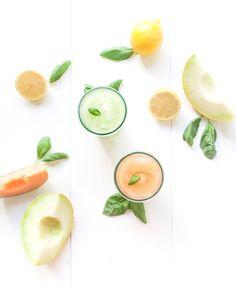 melonade: melon, citron, basilic, sirop, eau
