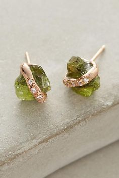 Diamond-Wrapped Crystal Studs - anthropologie.com