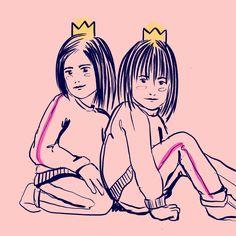#illustration #digitalart #comicart #girls #color #comic #princess #sisters