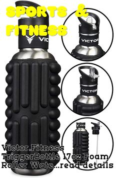 Victor.Fitness TriggerBottle 17oz Foam Roller Water Bottle (Black) ... (This is an affiliate link) #fitnessaccessories