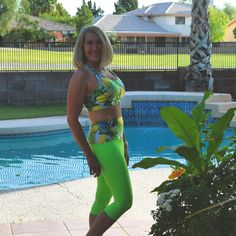 Happy in Pineapple – Haute Business Pineapple Clothes, Yoga Capris, Skinny Girls, Workout Wear, Neon Green, The Twenties, Are You Happy, Active Wear, That Look