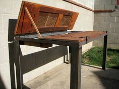 Old Barn Door DESK / TABLE  Reclaimed by TheBohemianWorkbench, $2500.00