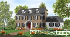 Gracious Two-Story Center Hall - 9558DM | 2nd Floor Master Suite, Colonial, Corner Lot, Traditional | Architectural Designs
