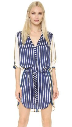 Mason by Michelle Mason Mixed Stripe Dress
