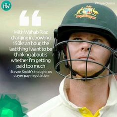 Steven Smith explains why he is happy to leave player pay negotiation to the Australia Cricketers' Association #ausvpak #stevesmith