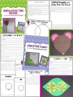 Kevin Henkes Author Study {making connections, visual images, inferring, character traits, and much more!!!} (Sheila Rae the Brave and Chester's Way)