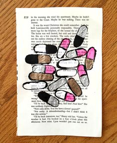 Dolls on Dolls Book Page Painting by ThatsHighlyOffensive on Etsy https://www.etsy.com/listing/229506198/dolls-on-dolls-book-page-painting